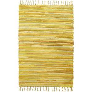 Hadrový koberec Tonal 1, 60/120cm, Žlutá
