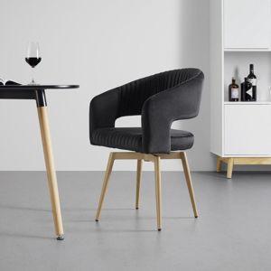 Jídelní Židle Otoční Isabela Černá