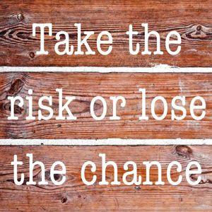 Obraz skleněný Take The Risk