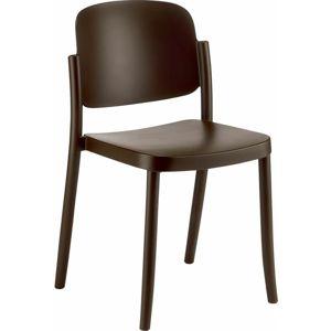 Plastová Židle Plaza Hnědá