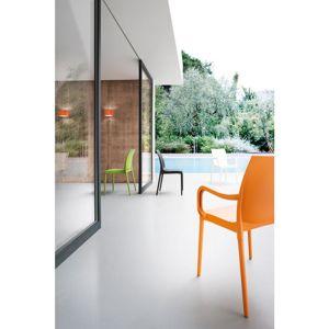 Plastová Židle s područkami Eset Šedohnědá