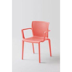 Plastová Židle s područkami spiker Červená