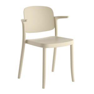 Plastová Židle s područkou Plaza Písková